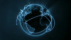 Global network - loop center - HD1080 Stock Footage