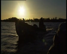 End of a days fishing Stock Footage