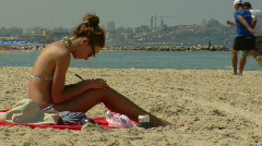 Tal Aviv beach 7 Stock Footage