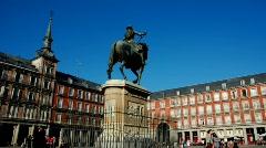 Spain. Madrid. Plaza mayor Stock Footage