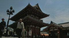 Tokyo Shrine 02 underexposed Stock Footage