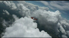 Skydiving wingsuit Stock Footage
