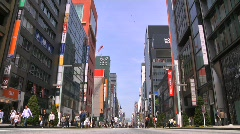 Ginza Tokyo Street during the Golden Week in 2010 25 Stock Footage