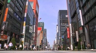Stock Video Footage of Ginza Tokyo Street during the Golden Week in 2010 25