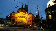 Melbourne time lapse. Stock Footage