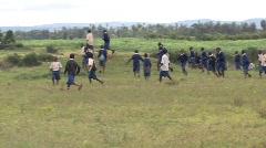 Footbal at School Stock Footage