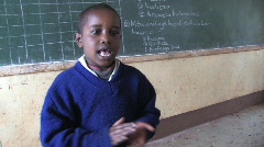 Children sing in a classroom in Tanzania - stock footage