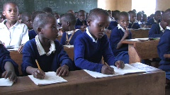 Young students in school in Tanzania Stock Footage