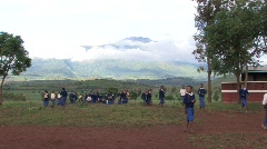 Students come to school in Tanzania - stock footage