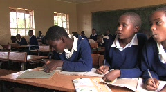 Girls at a rural school in Tanzania - stock footage