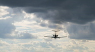 Stock Video Footage of Airplane landing
