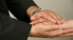 hand over hand to comfort - stock footage