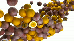 Passion fruit flow with slow motion - stock footage