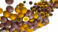Passion fruit flow with slow motion Stock Footage