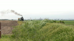 Old Coal Powered Steam Train Stock Footage