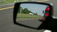 I-81 Virgina rear view 18 wheeler Red - stock footage