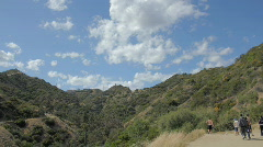 Runyon Canyon | Hiking | Clouds | Hollywood, CA - stock footage