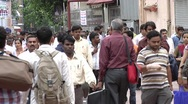 Stock Video Footage of Crowded street in mumbai, India