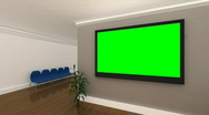 Stock Video Footage of Green Screen Background Interior Office