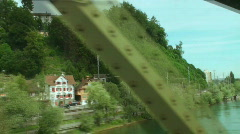 view from train through the bridge - stock footage