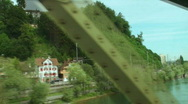 Stock Video Footage of view from train through the bridge