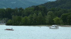 two boats on the lake - stock footage