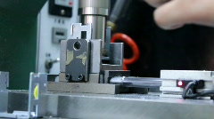 Semi Automated Riveting of Movement Assembly Parts Stock Footage