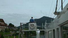 Shipmaster on the bridge Stock Footage