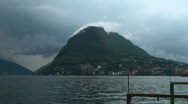 Stock Video Footage of mount on the lake Lugano