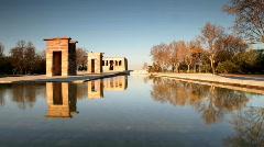 El templo madrid tourist park monument spain Stock Footage