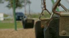 Lonely Swing Seat Stock Footage