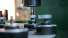 Semi Automated Riveting of Movement Assembly Parts - stock footage