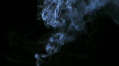 Real smoke against black background HD 1080p Stock Footage