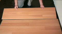 Flooring Installation Stock Footage