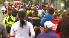 Fitness, runners in marathon, #8 reverse angle no faces Stock Footage
