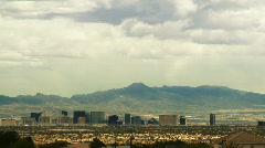Distant Las Vegas Strip, Time-lapse - stock footage