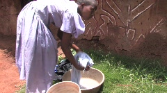 Washing clothes in Rural Tanzania - stock footage