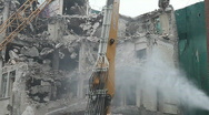 Stock Video Footage of Demolition