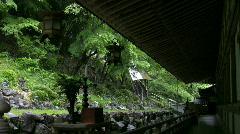 Rain At A Japanese Zen Temple - stock footage