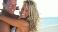 Attractive Tanned Couple Stock Footage