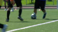 Soccer Action - stock footage