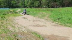 Motorbike rider Stock Footage
