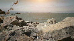 Coyote Point Rocks-Stock Footage PhotoJPG Stock Footage