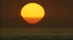 Malibu sunset sun XCU Stock Footage