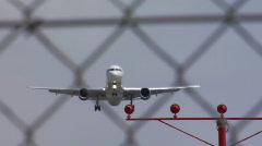 Jet land toward Stock Footage