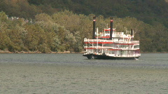 Stock Video Footage of Mississippi River Boat
