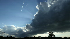 Beautiful Sun Rays behind Storm Cell Time Lapse Stock Footage
