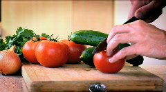 Slicing a Tomato 2 Stock Footage