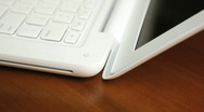 Laptop opening Stock Footage