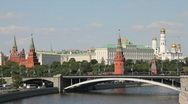 Stock Video Footage of Panorama of Kremlin